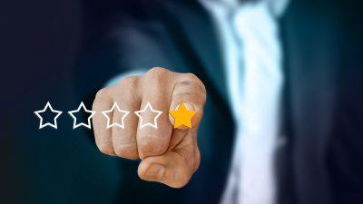Online Bewertunge. Sterne vergeben und bewerten.