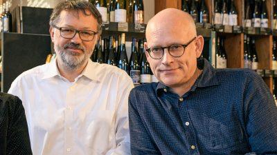 vinocentral-Geschäftsführer Alexander Marschall und Michael Bode-Böckenhauer