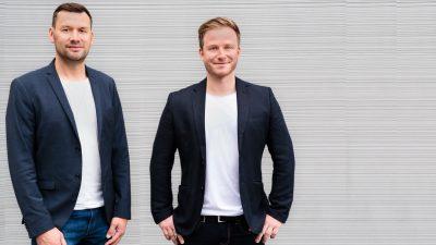Die beiden Gründer des Start-ups MEISTERWERK APP GmbH: Bertram Wildenauer und Nick Sonnenberg.
