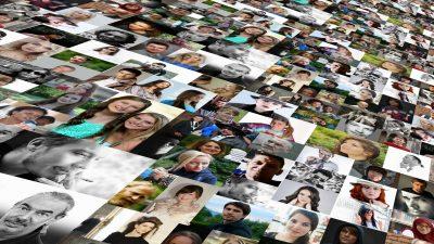 Das Bild ist eine Collage, die sehr viele verschiedene Menschen zeigt.