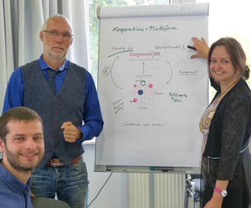 Diagnostik-BB GmbH mit Prof. Dr. Jörg-M. Hollidt, Hannes Thonagel, Dr. Frauke Adams